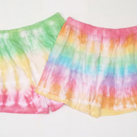 Tie Dye Mens Boxer Shorts Set of Two Rainbow & Rasta ALL SIZES AVAILABLE Gifts for Him