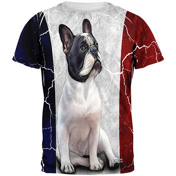 French Bulldog Live Forever All Over Adult T-Shirt