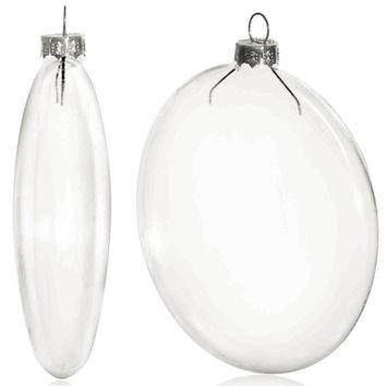 Free Shipping DIY Paintable Clear Christmas Decoration 100mm Glass Disc/Paper Silver Cap Ornament, 100/Pack