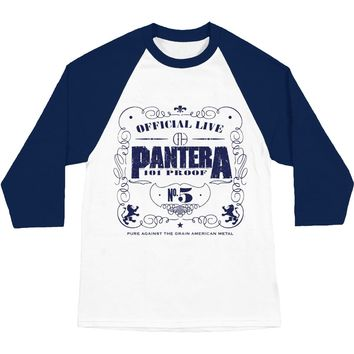 Pantera Men's  101 Proof Baseball Jersey Navy/White