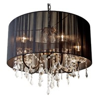 Black Night Crystal Chandelier | Sweetpea and Willow