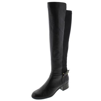 Bandolino Womens Cuyler Leather Over The Knee Riding Boots