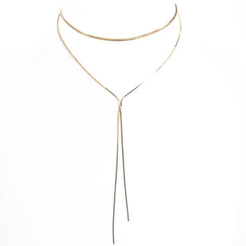 Glory Chain Choker Necklace in Gold