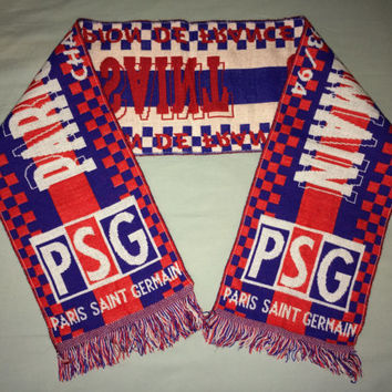 Sale!! Vintage 1993/1994 Paris Saint Germaint Soccer Scarf PSG FRANCE Football Jersey shirt