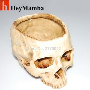 Skull Skulls Halloween Fall Artificial Human  Head Statue Figurine Human Shaped Design Flower Pot Plante DIY Home Bar Decorations Creative Art Gifts Calavera