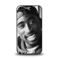 iPhone 4 4S case protective skin cover with American rapper Tupac Shakur known as 2Pac, Makaveli design #7