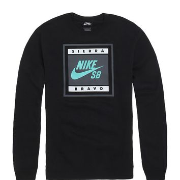 Nike SB Team Sports Logo Crew Fleece - Mens Hoodie - Black
