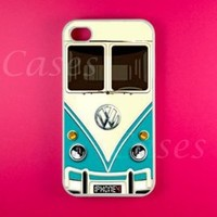 Vw Minibus Teal Iphone 4 Case, Iphone 4s Case:Amazon:Cell Phones & Accessories