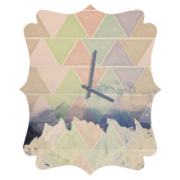 Maybe Sparrow Photography Geometric Alaska Quatrefoil Clock