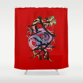 Dragon Shower Curtain by Spooky Dooky