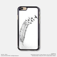 Feather Bird Tattoo iPhone 6 6Plus case iPhone 5s case iPhone 5C case iPhone 4 4S case Samsung galaxy Note 2 Note 3 Note 4 S3 S4 S5 case 536