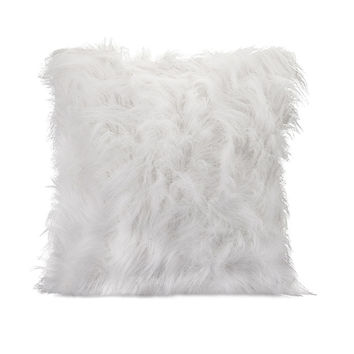 Nikki Chu White Faux Fur Pillow Set of 2