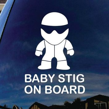 Baby STIG on Board Funny Decal Sticker Vinyl Decorative for Wall Car Auto Ipad Macbook Laptop