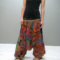 LIMITED Patchwork harem pant LMHR 221.2 by thaitee on Etsy