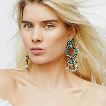 Free People Blue Frost Turquoise Earrings