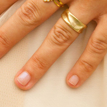 14k Gold wide ring . Solid gold wedding ring for men or women . Hand carved wedding ring . Waves shape ring . Handmade . custom Made