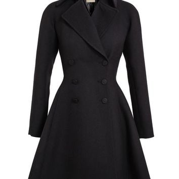 AZZEDINE ALAÏA | Tailored Crepe Wool Princess Coat | Browns fashion & designer clothes & clothing