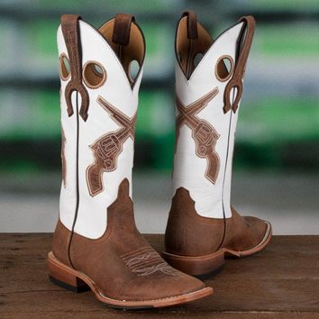 Anderson Bean Ladies' White Pistol Boots - Western - Boots - Women's