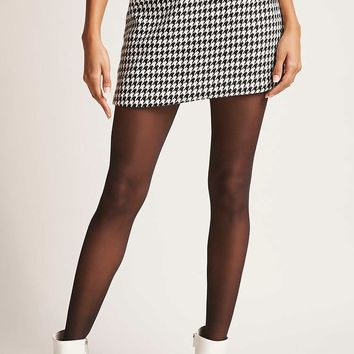 Motel Houndstooth Mini Skirt