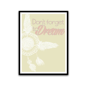 dream catcher art inspirational posters soft pastel room decor