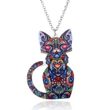 Bohemian Acrylic Style Long Animal Necklaces