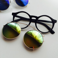 Clip-On Mirrored Sunglasses and Fashion Glasses