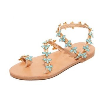 Natalie Turquoise Sandals