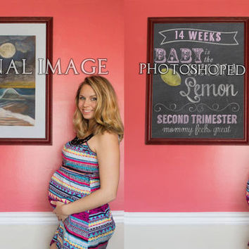 1 week package - Photoshopped Chalkboard Pregnancy Week