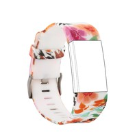 (Charge2HS)  C-G005 Soft Silicone Adjustable Replacement Sport Strap Band for Fitbit Charge 2 (Free screen including)