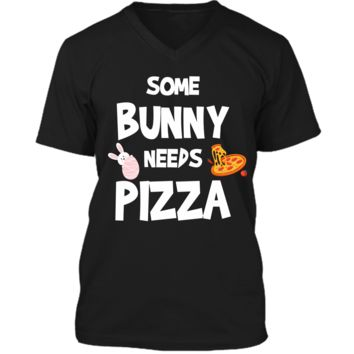 Cute Gift Ideas For Easter. Costume For Pizza Lover. Mens Printed V-Neck T