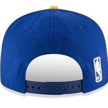 Golden State Warriors New Era 9FIFTY Royal Adjustable Snap Snapback Hat Cap 950