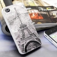 Generic Eiffel Tower Embossment Case For iPhone 4/4S Color Gray