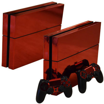 Red Chrome Skin - PS4 Protector
