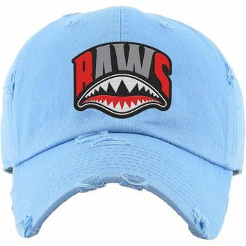 8270d17d776110 Angry Shark Mouth Baws Carolina Dad Hat