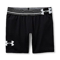 Under Armour 7-16 Alpha Shorts - Black/Black/White