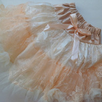 Girls Easter Skirt, Peach Lace Skirt, Ivory Lace Skirt, Toddler, Girls Skirt