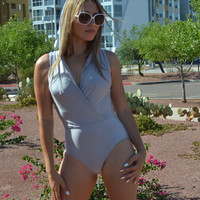 Aida Hooded One Piece Swimsuit - Back Covered