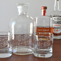 His Hers Ours Decanter Set—Wedding Gift