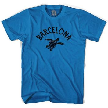 Barcelona Beach Sea Turtle Adult Cotton T-shirt