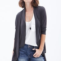 LOVE 21 Draped Open-Front Cardigan