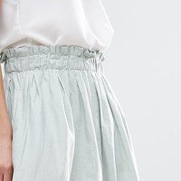 ASOS Linen Prom Skirt at asos.com