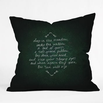 Leah Flores Rues Lullaby Throw Pillow