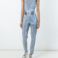Giamba Stars And Pinstripes Print Strapless Jumpsuit - Eraldo - Farfetch.com