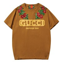GUCCI Flower Woman Men Fashion Embroidery Tunic Shirt Top Blouse