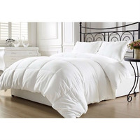 Queen Size Hypoallergenic Down Alternative Comforter In White