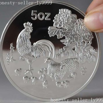 christmas Chinese Collection Rare Exquisite 1993 zodiac Rooster animal commemorative coins halloween