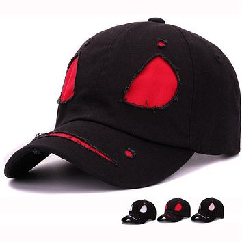Cotton devil face cap cool monster mask baseball hat for men and women