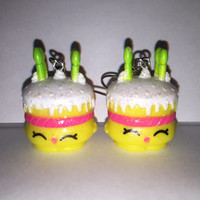 Shopkins Foodie Earrings - Wishes [glitter] - made with repurposed toys