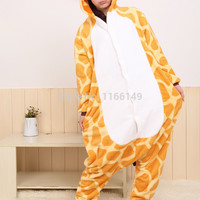 Giraffe Onesuits Pajamas Cartoon Animal  costume Onesuits Pyjamas Unisex pijamas  ,sleepwear, party clothes