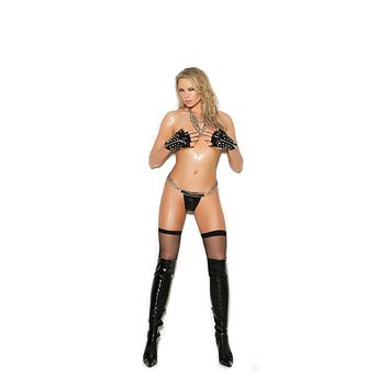 Elegant Moments Vinyl G-String With Chains
